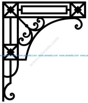 Corner design Vector corel file 3