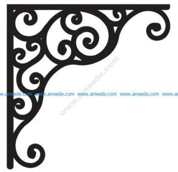 Corner design Vector corel file 8