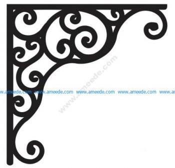 Corner design Vector corel file 8