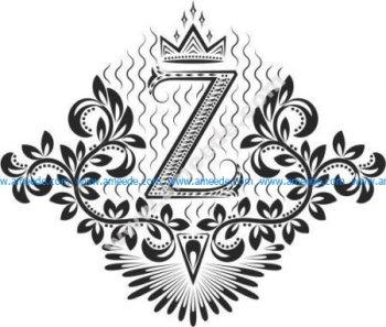 Decorative Letter Set Z