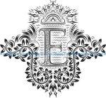 Doodles Font Ornamental Floral Letters E