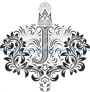 Fancy Floral Letters j