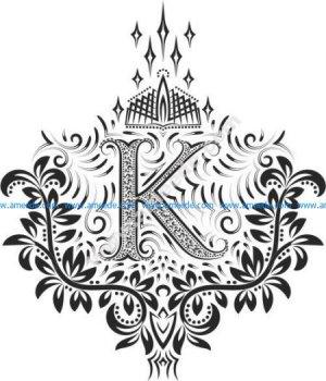 Fancy Floral Letters k