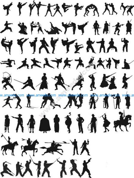 Fighting Silhouettes
