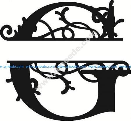 Flourished Split Monogram G Letter