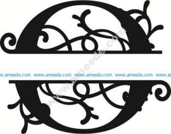Flourished Split Monogram O Letter