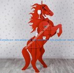Horse Table plan laser cut wood designs