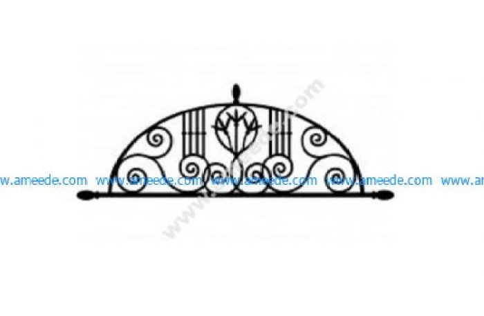 Ironwork Arch Floral dxf File