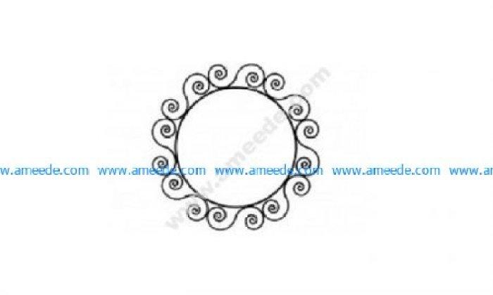 Ironwork Round Frame
