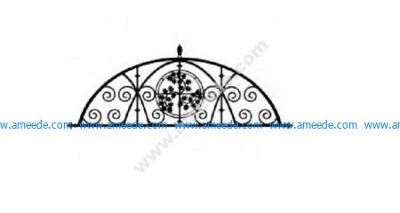 Ironwork Semi Floral Design