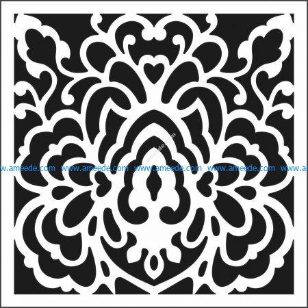 Lattice Floral Pattern