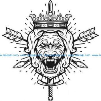 Lion wearing crown