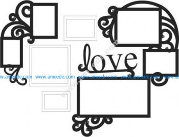 Love Picture Frame Set Wall Art Decoration