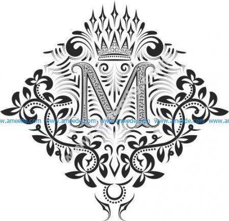 Monogram Ornament Letters M