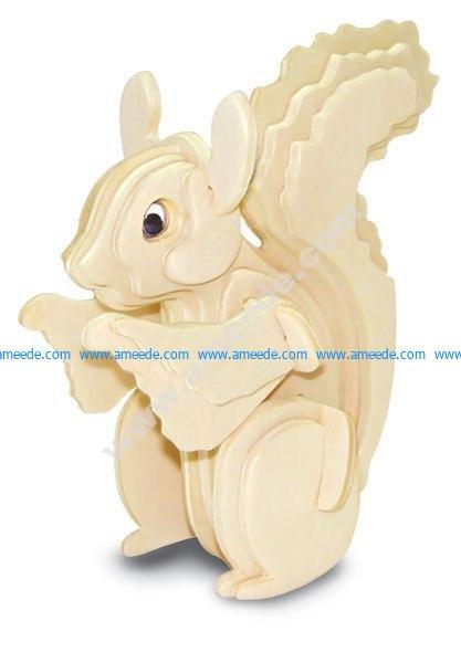 Squirrel 3D Puzzle