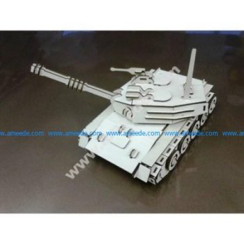 Tank 3D Puzzle Model Laser Cut