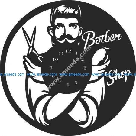 clock in men's hair salon