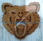 Bear Head 3D Laser Cut
