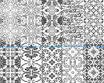 Chinese Patterns window Vector