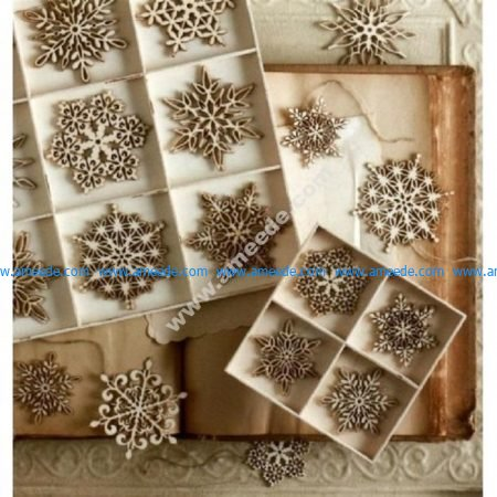 Laser Cut Christmas Tree Snowflakes