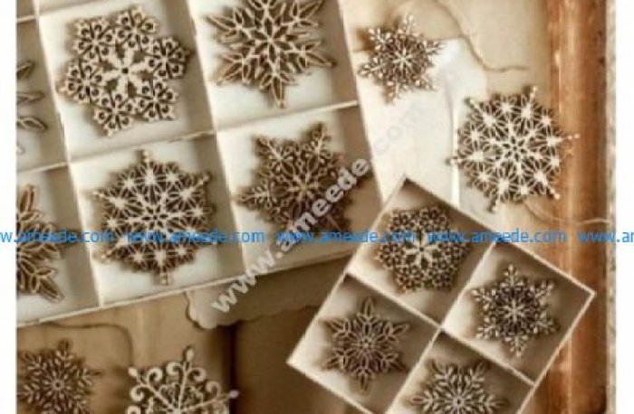 Laser Cut Christmas Tree Snowflakes
