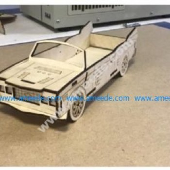 Laser Cut Convertible Car