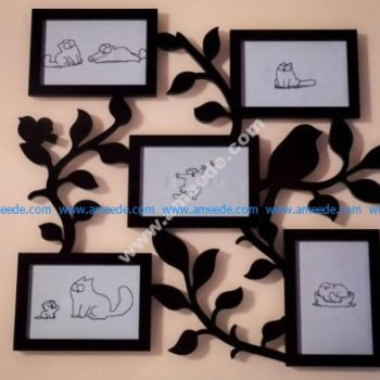 Laser Cut Family Frame Template