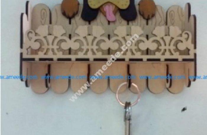 Laser Cut Key Hanger Dog