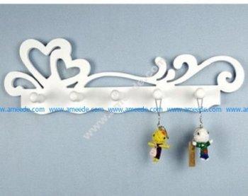 aser Cut Key Holder Wall Hanging