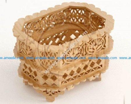 Laser Cut Wooden Decorative Basket CNC Plans