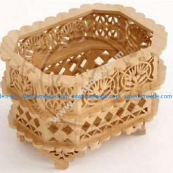 Laser Cut Wooden Decorative Basket CNC Plans