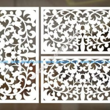 cnc cut pattern vector file 3