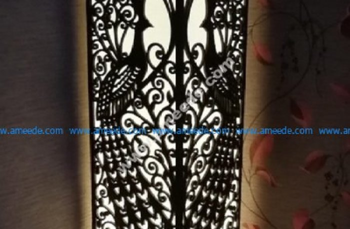 peacock wood lamp