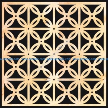 Decorative Wood Grilles Panels Pattern