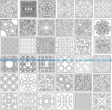 Decorative corel pattern for lattice