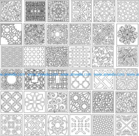 Decorative corel pattern for lattice