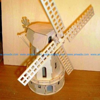 Laser Cut 3D Mill Plywood