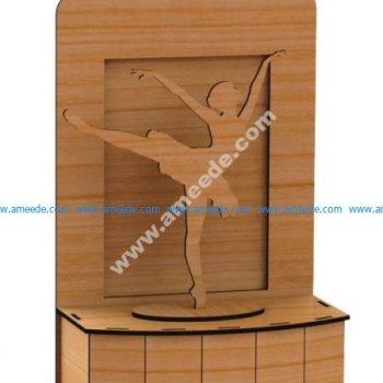 Laser Cut Ballerina On Stage 3D