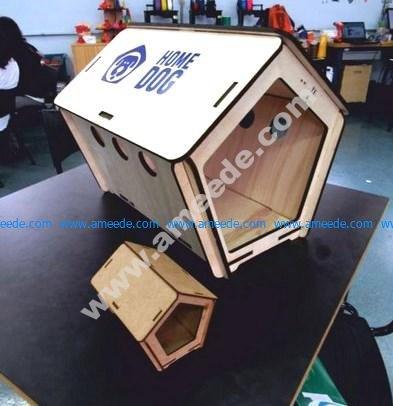 Laser Cut Dog House