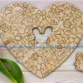 Laser Cut Love Heart