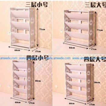 Laser Cut Magazine Rack Stand Newspaper Racks