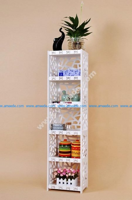 Laser Cut Partition Rack Storage Shelf Template