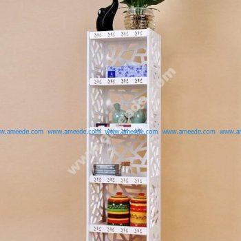 Laser Cut Partition Rack Storage Shelf Template