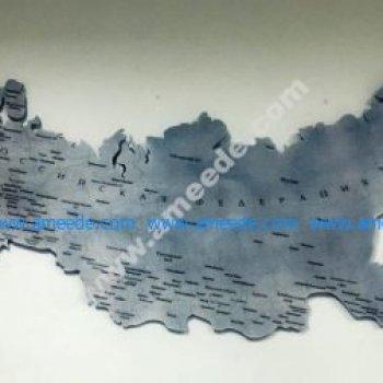 Laser Cut Russia Map