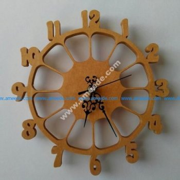 Laser Cut Wall Clock