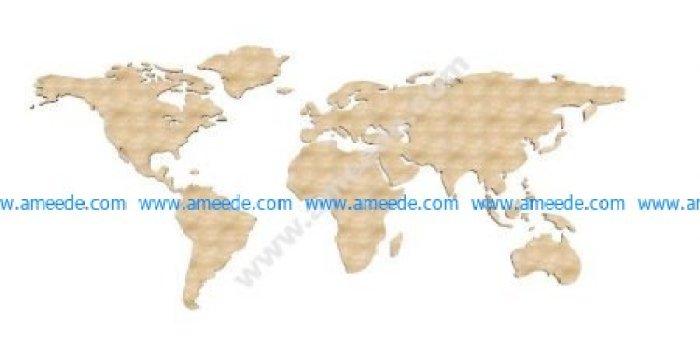 Laser Cut World Map