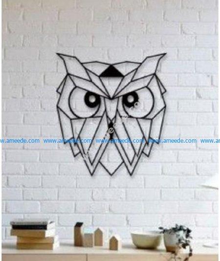 Owl Wall Sculpture
