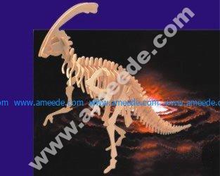 Parasaurolophus 3D Wooden Puzzle