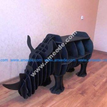 Rhino Bookshelf 8mm Laser Cut