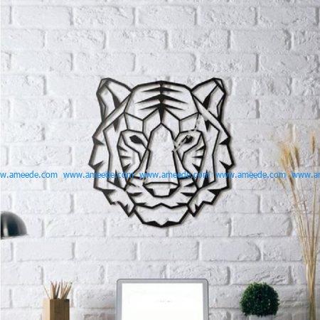 Tiger wall Sculpture
